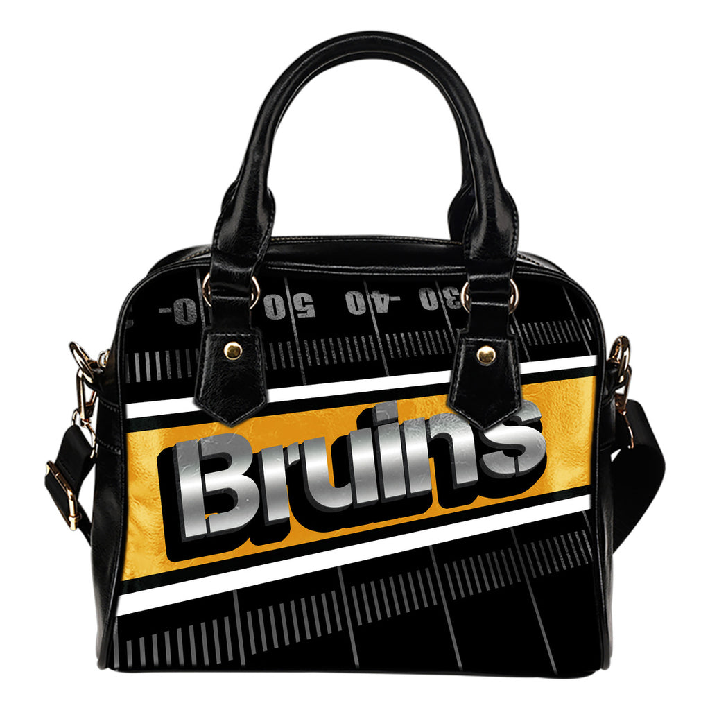 Boston Bruins Silver Name Colorful Shoulder Handbags