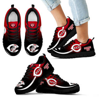 Mystery Straight Line Up Cincinnati Reds Sneakers