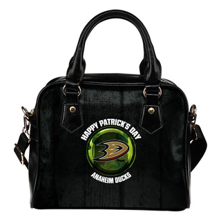 Retro Scene Lovely Shining Patrick's Day Anaheim Ducks Shoulder Handbags