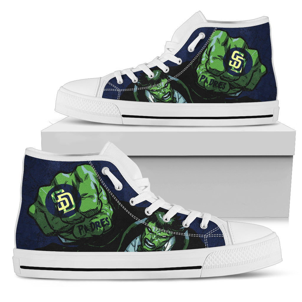 Hulk Punch San Diego Padres High Top Shoes