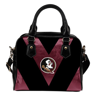 Triangle Double Separate Colour Florida State Seminoles Shoulder Handbags