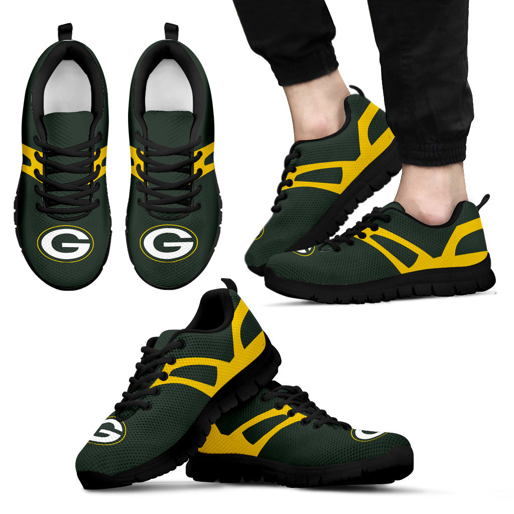 Line Amazing Bottom Green Bay Packers Sneakers