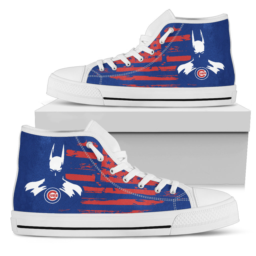 Batman Style Big Chicago Cubs High Top Shoes