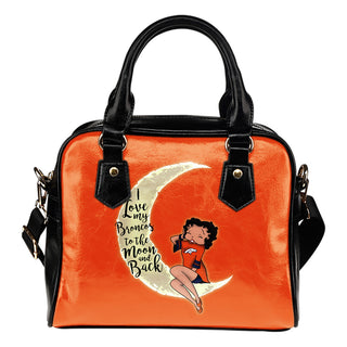 I Love My Denver Broncos To The Moon And Back Shoulder Handbags - Best Funny Store