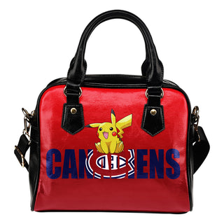 Pokemon Sit On Text Montreal Canadiens Shoulder Handbags