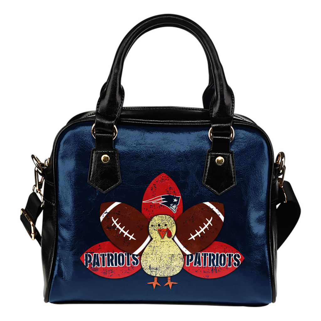 Thanksgiving New England Patriots Shoulder Handbags - Best Funny Store