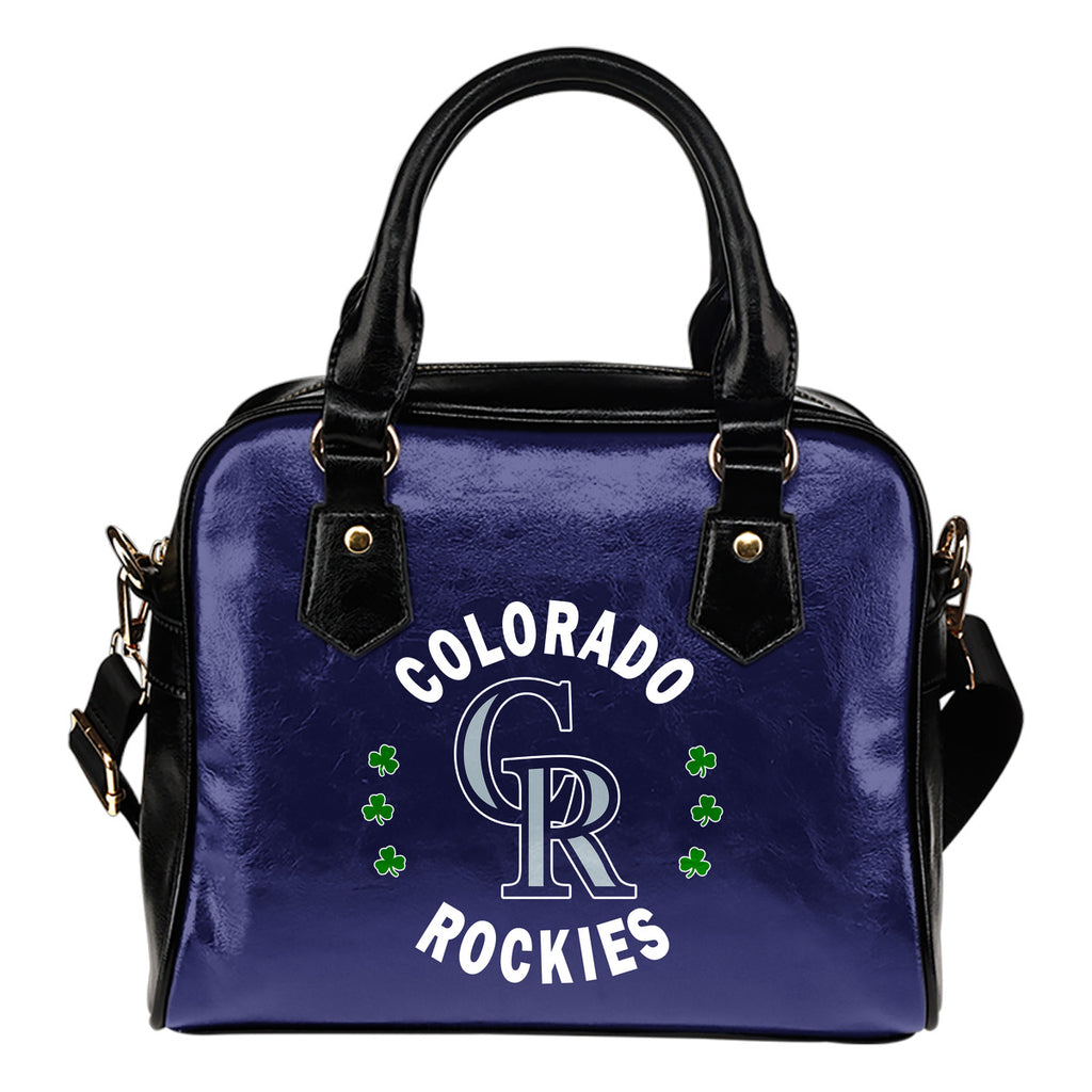 Central Beautiful Logo Circle Lucky Leaf Colorado Rockies Shoulder Handbags