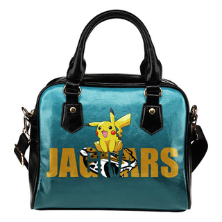 Pokemon Sit On Text Jacksonville Jaguars Shoulder Handbags