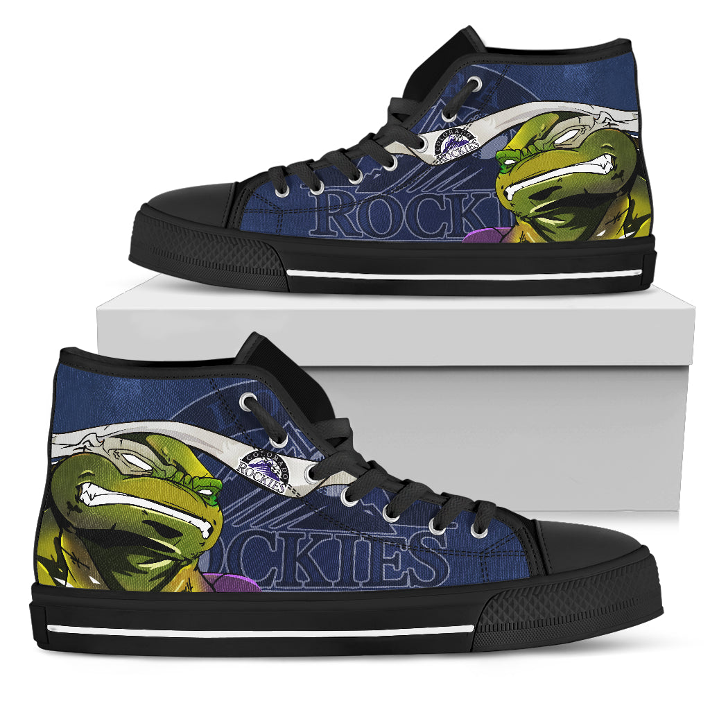 Turtle Colorado Rockies Ninja High Top Shoes