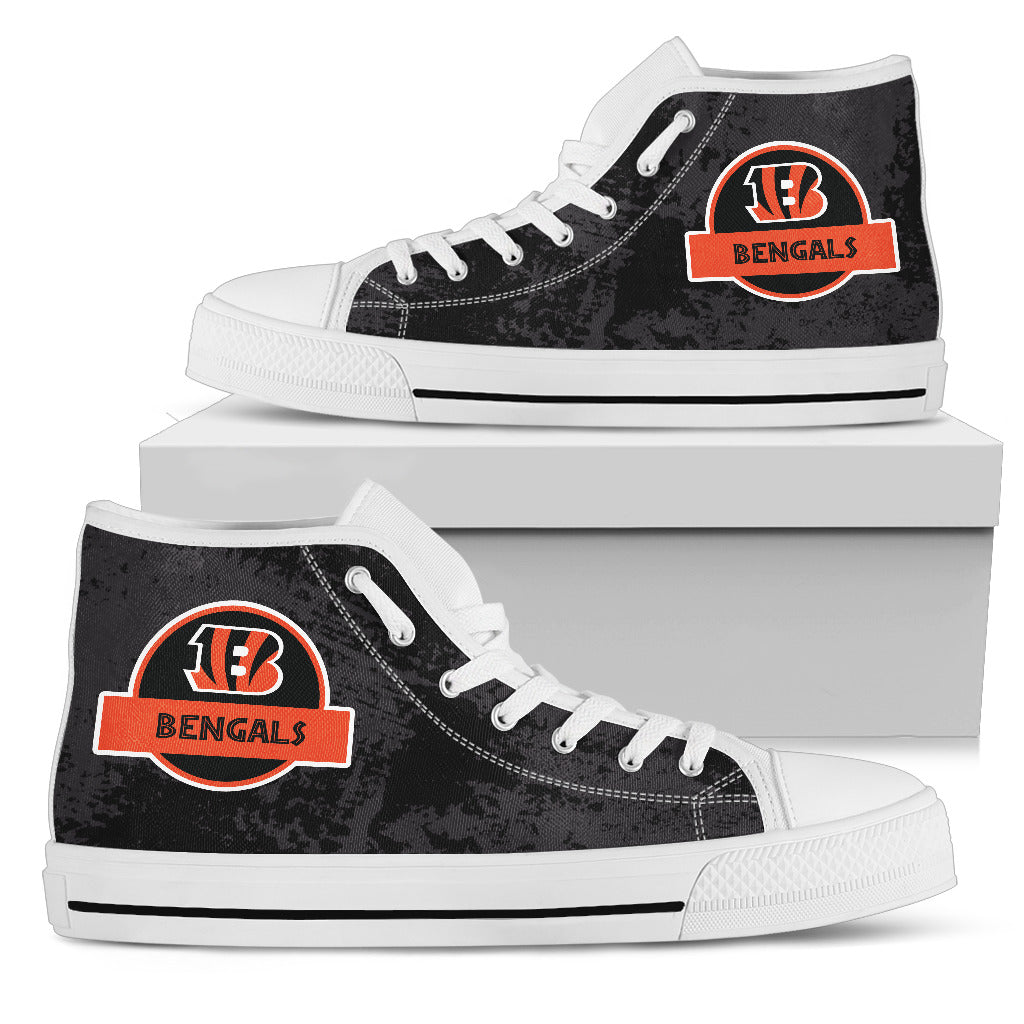 Jurassic Park Cincinnati Bengals High Top Shoes
