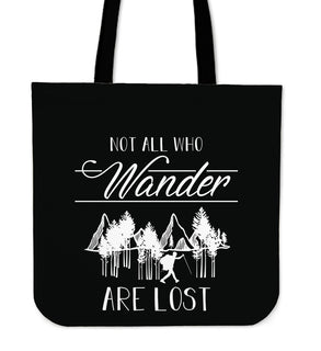 Not All Who Wander Trekking Tote Bags