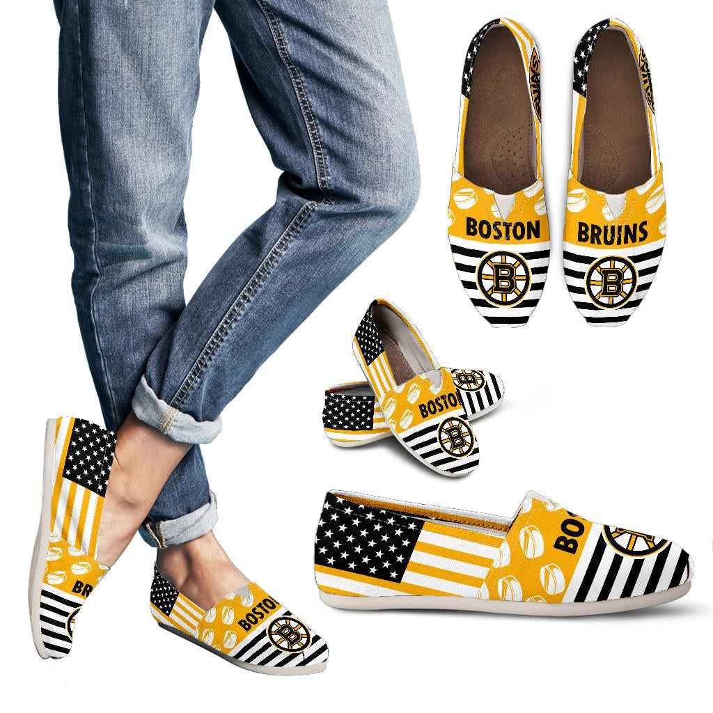 American Flag Boston Bruins Casual Shoes