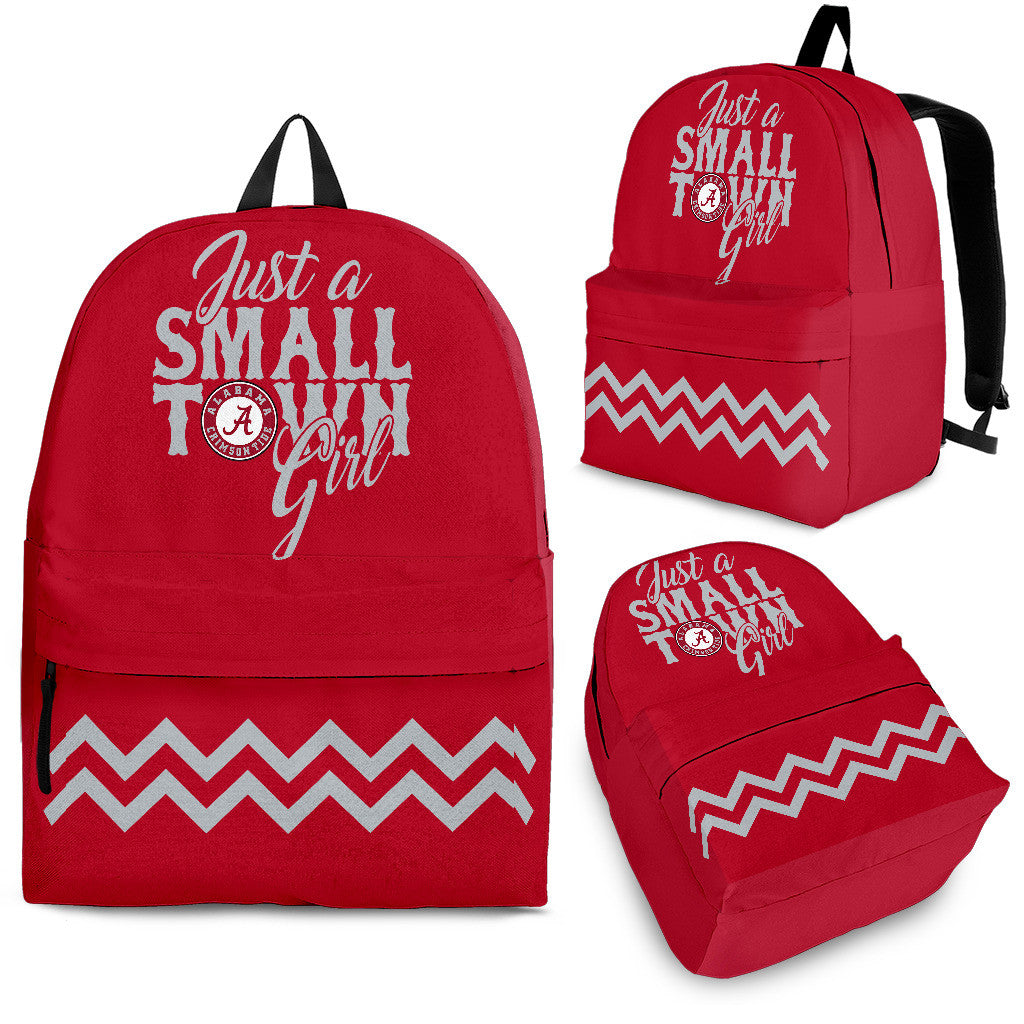 Just A Small Town Alabama Crimson Tide Backpacks - Best Funny Store