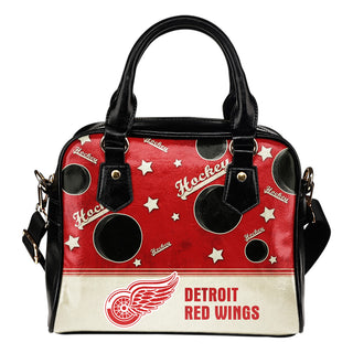 Personalized American Hockey Awesome Detroit Red Wings Shoulder Handbag