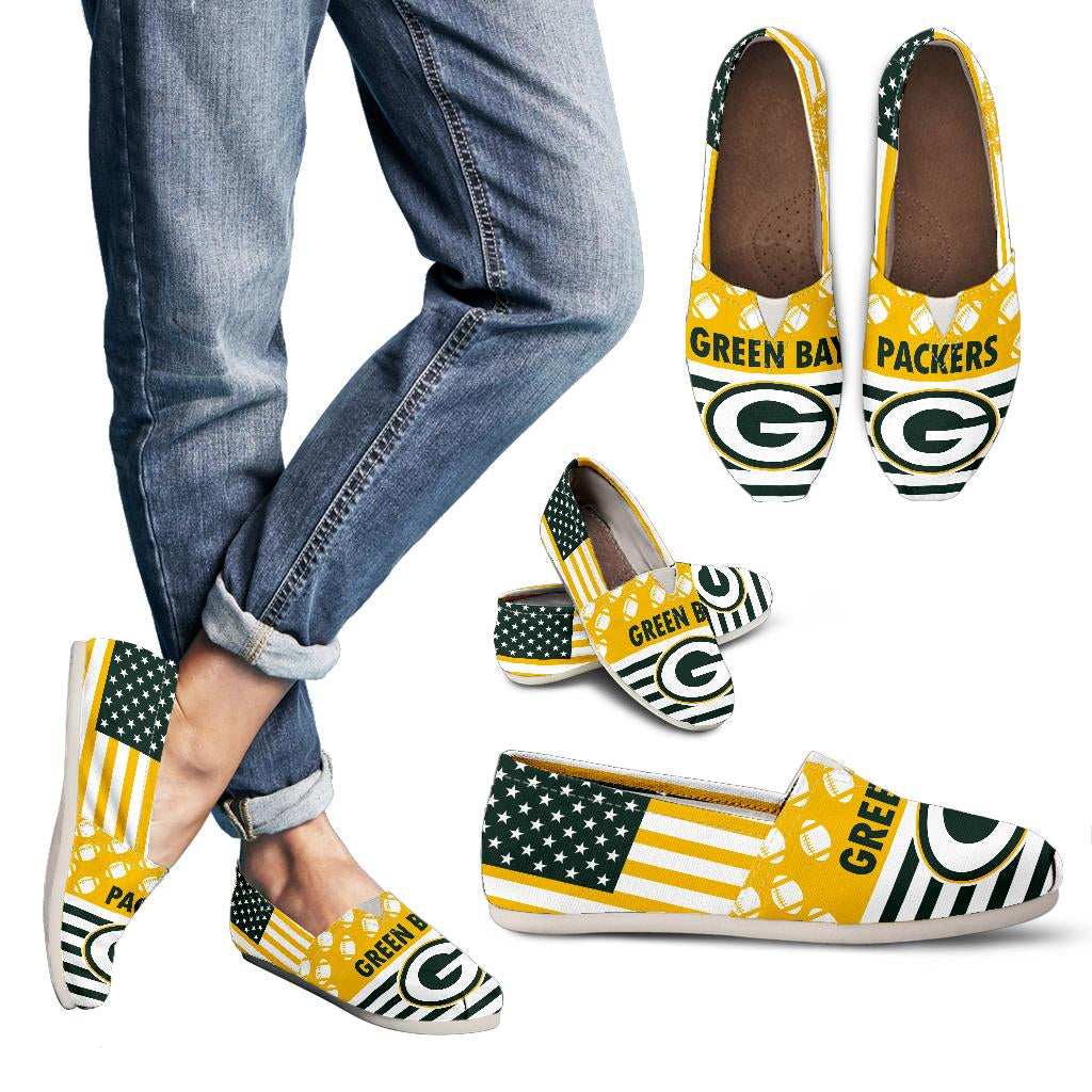 American Flag Green Bay Packers Casual Shoes