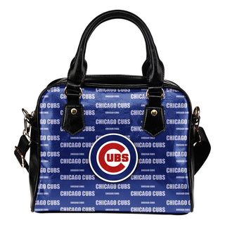 Nice Little Logo Chicago Cubs Shoulder Handbags