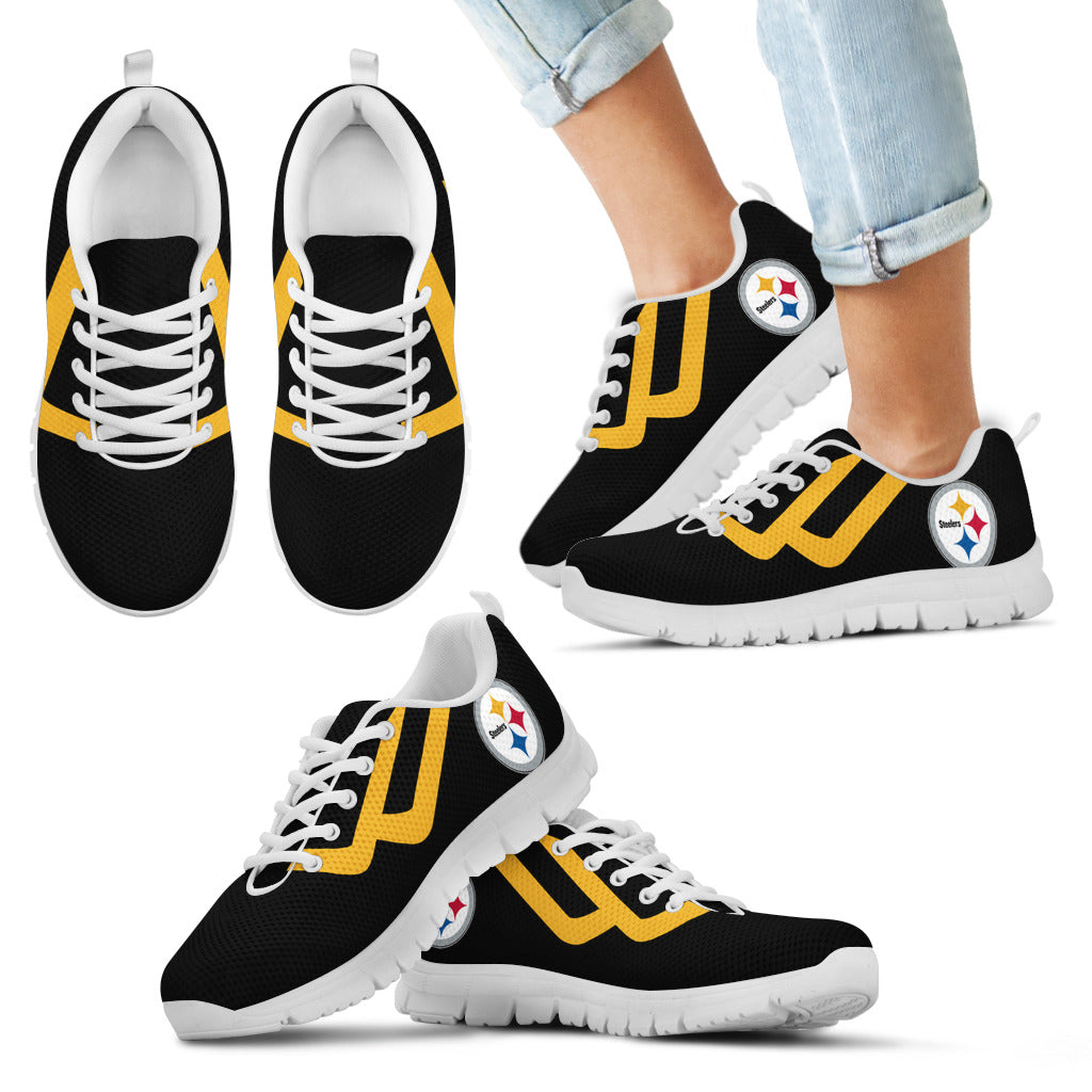 Line Bottom Straight Pittsburgh Steelers Sneakers