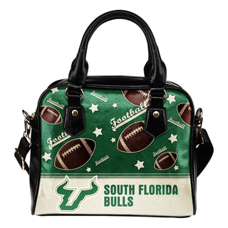 Personalized American Football Awesome South Florida Bulls Shoulder Handbag