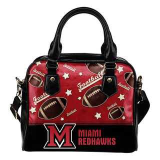Personalized American Football Awesome Miami RedHawks Shoulder Handbag