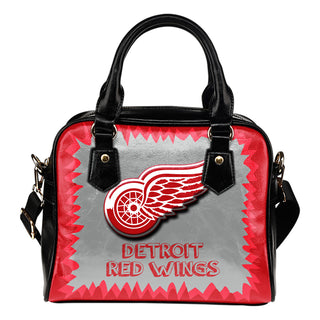 Jagged Saws Mouth Creepy Detroit Red Wings Shoulder Handbags