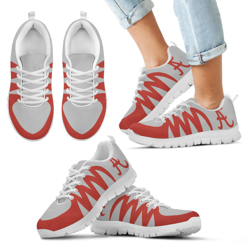 America Alabama Crimson Tide Silver Sneakers