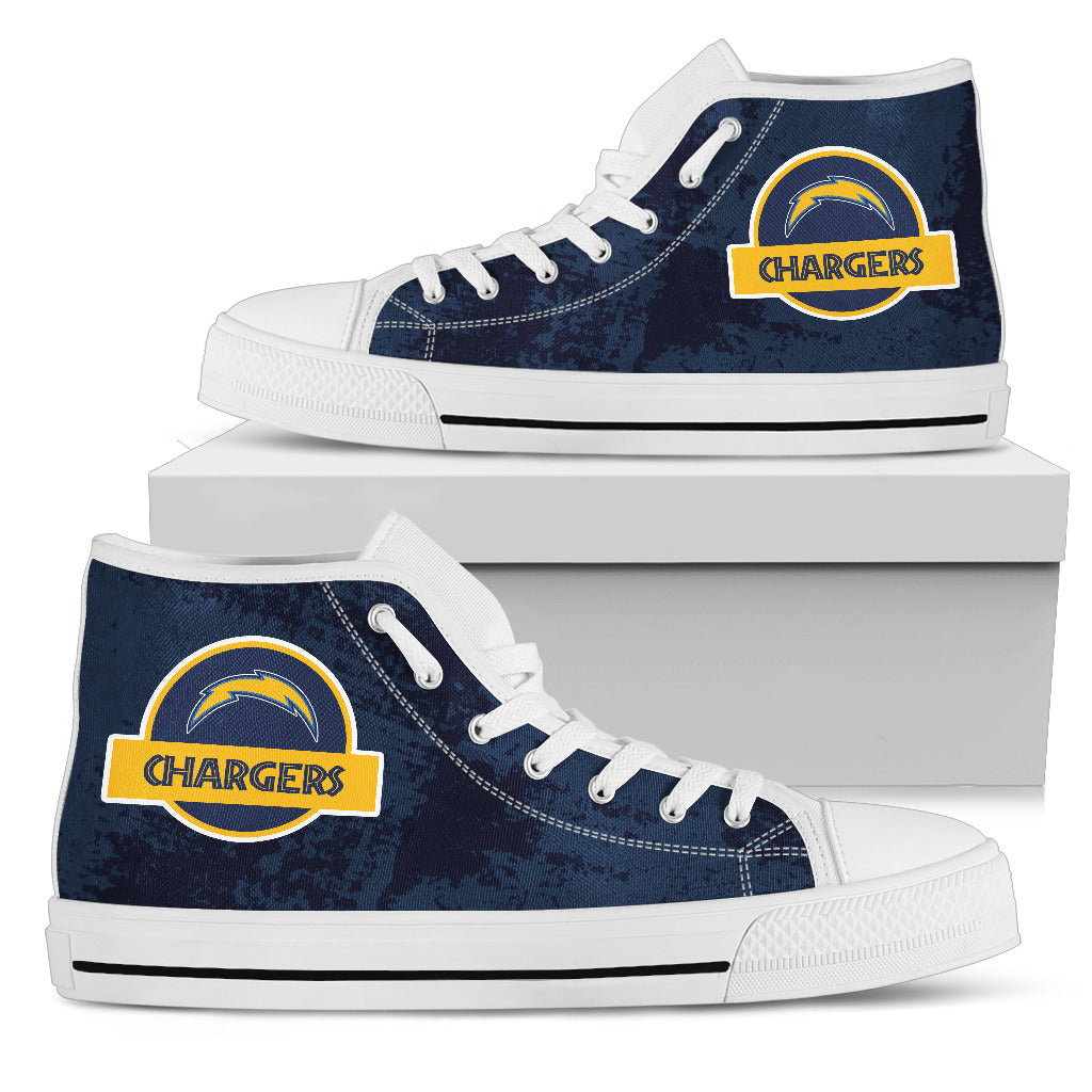 Jurassic Park Los Angeles Chargers High Top Shoes