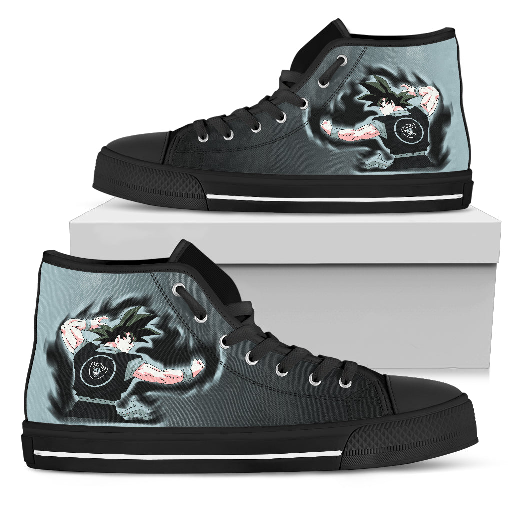 Son Goku Saiyan Power Oakland Raiders High Top Shoes