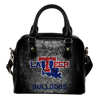 Wall Break Louisiana Tech Bulldogs Shoulder Handbags Women Purse