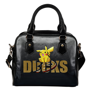 Pokemon Sit On Text Anaheim Ducks Shoulder Handbags