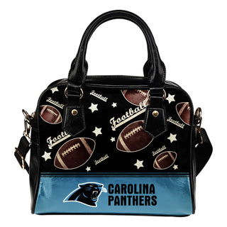 Personalized American Football Awesome Carolina Panthers Shoulder Handbag