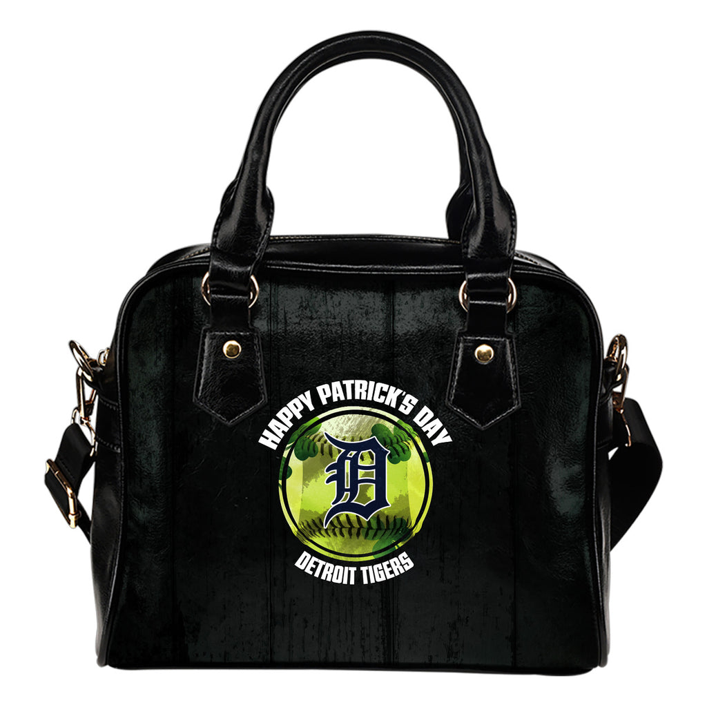 Retro Scene Lovely Shining Patrick's Day Detroit Tigers Shoulder Handbags