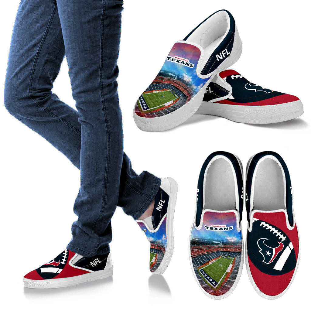Proud Of Stadium Houston Texans Slip-on Shoes