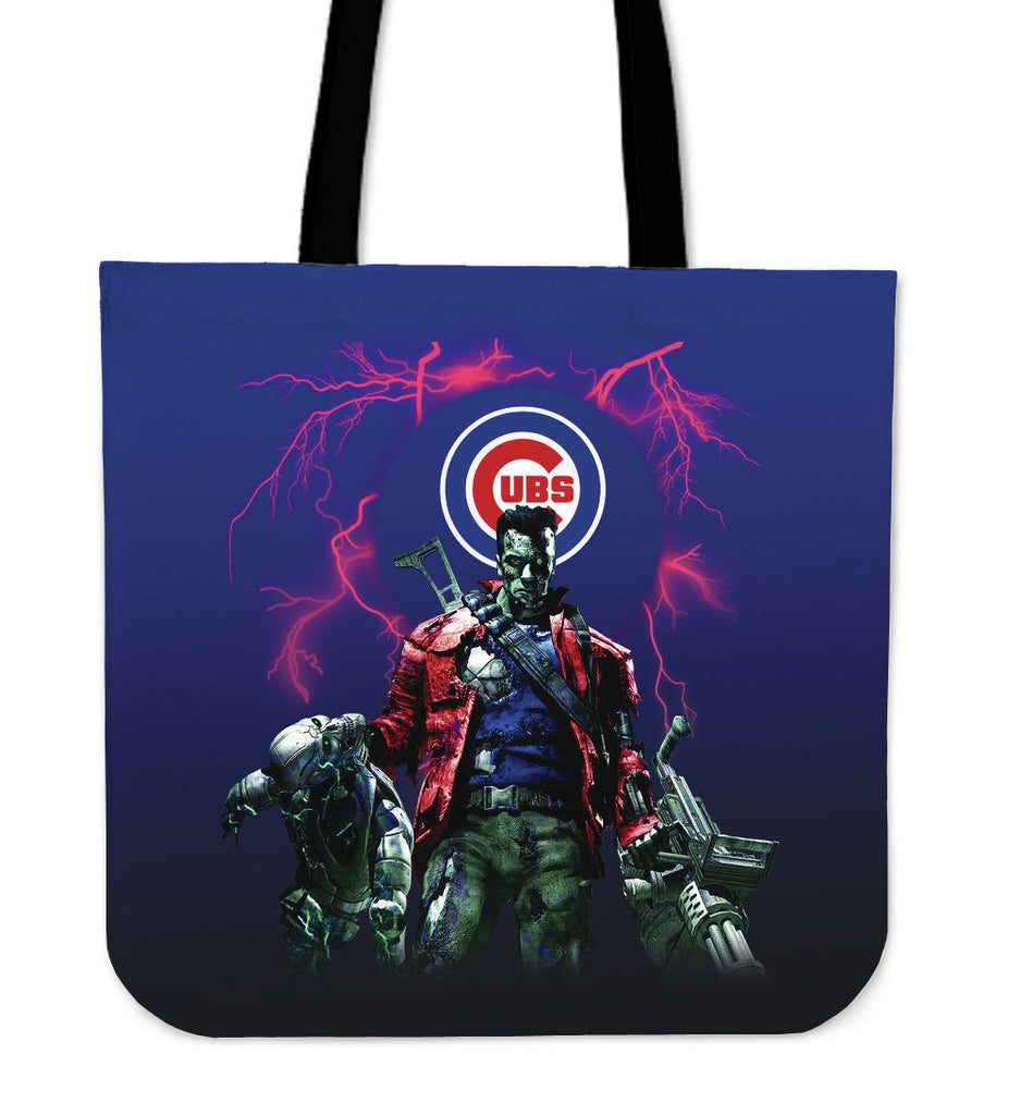 Chicago Cubs Guns Tote Bag - Best Funny Store