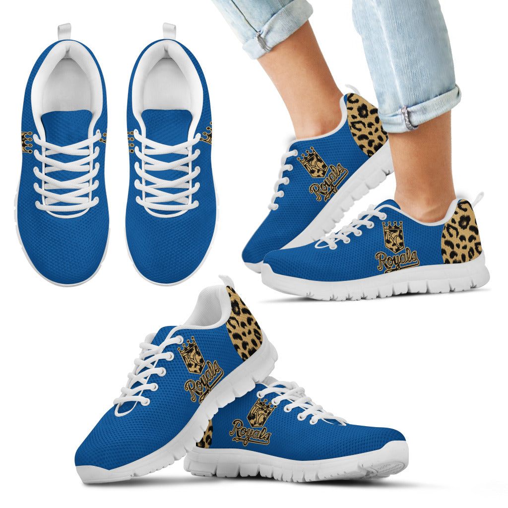 Cheetah Pattern Fabulous Kansas City Royals Sneakers