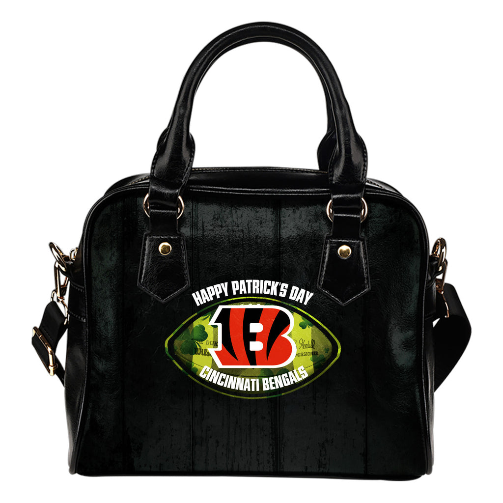 Retro Scene Lovely Shining Patrick's Day Cincinnati Bengals Shoulder Handbags