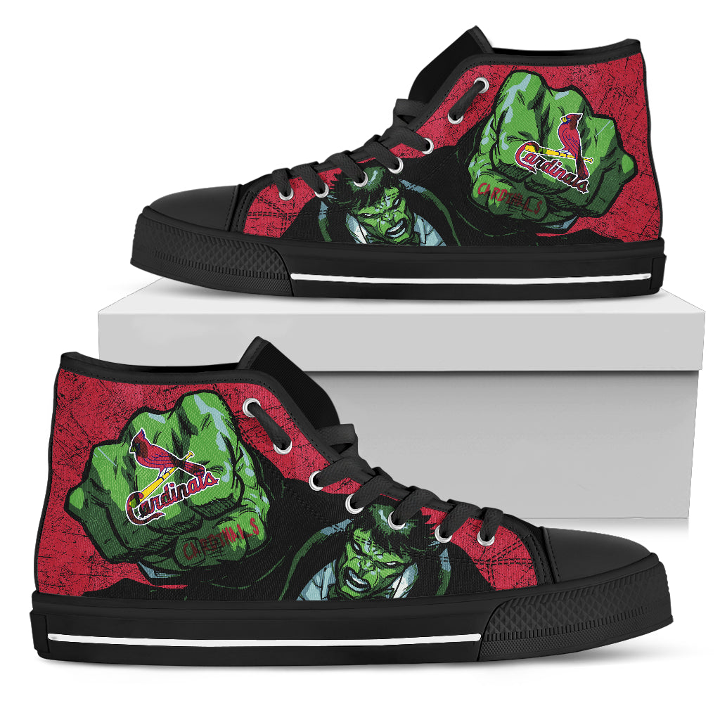Hulk Punch St. Louis Cardinals High Top Shoes