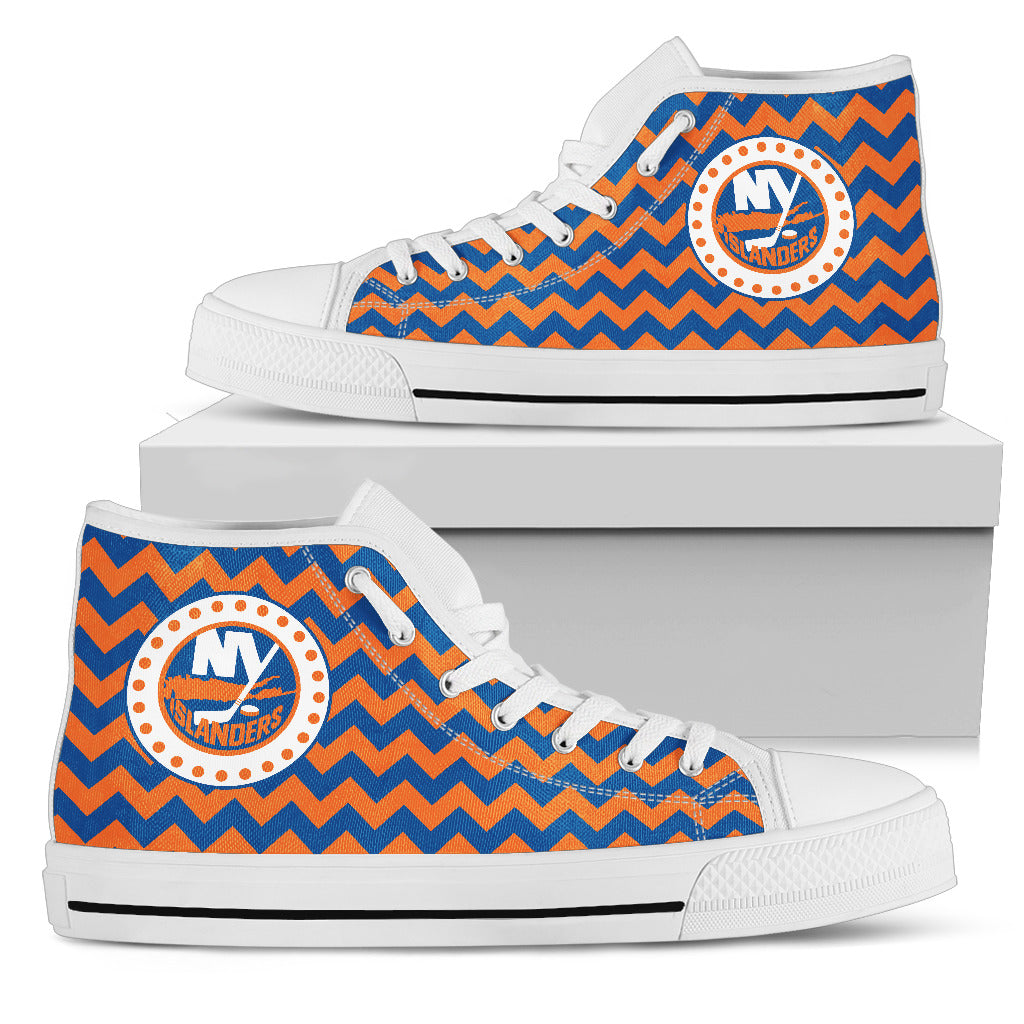Chevron Broncos New York Islanders High Top Shoes