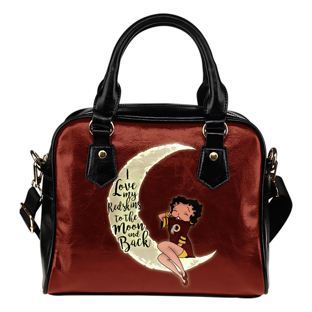 BB I Love My Washington Redskins To The Moon And Back Shoulder Handbags Women Purse
