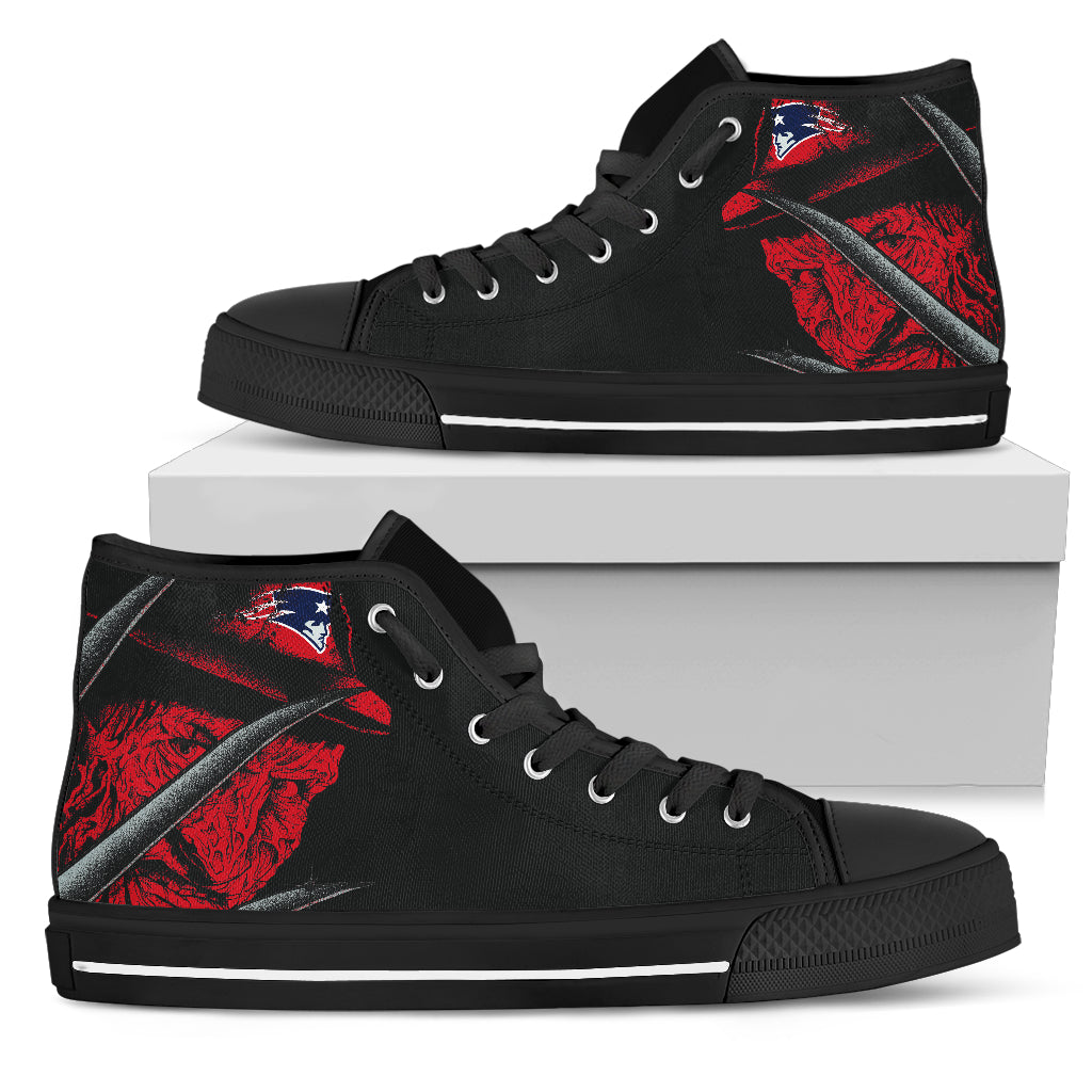 New England Patriots Nightmare Freddy Colorful High Top Shoes