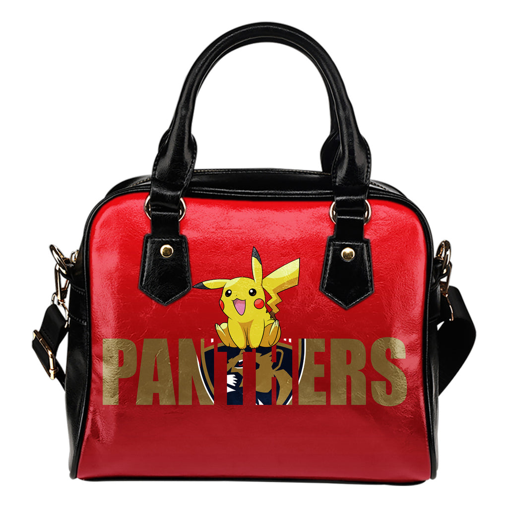 Pokemon Sit On Text Florida Panthers Shoulder Handbags