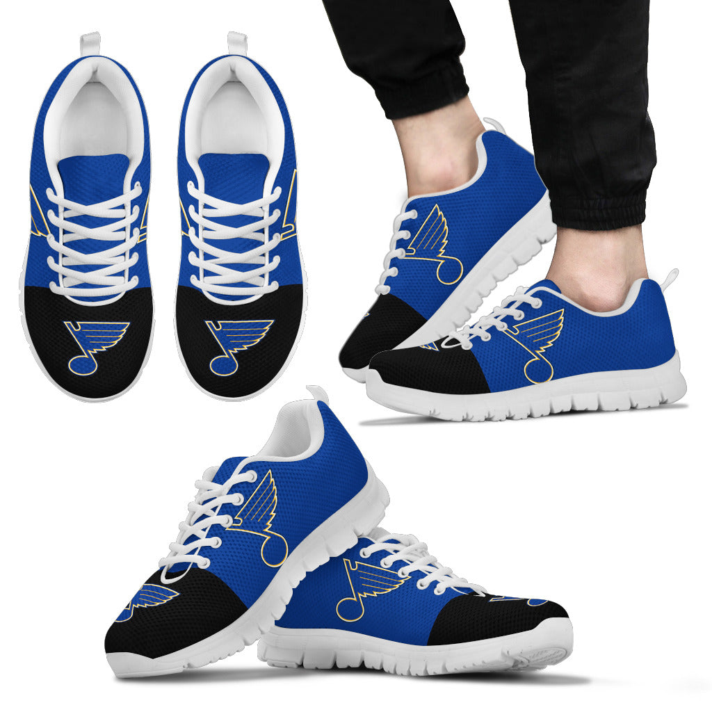 Two Colors Aparted St. Louis Blues Sneakers