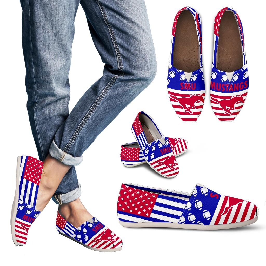 American Flag SMU Mustangs Casual Shoes