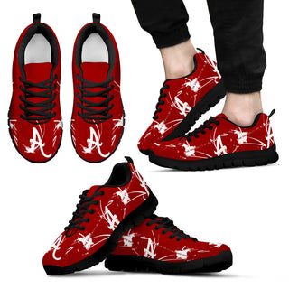 Alabama Crimson Tide A Painting Style Men Sneakers - Best Funny Store