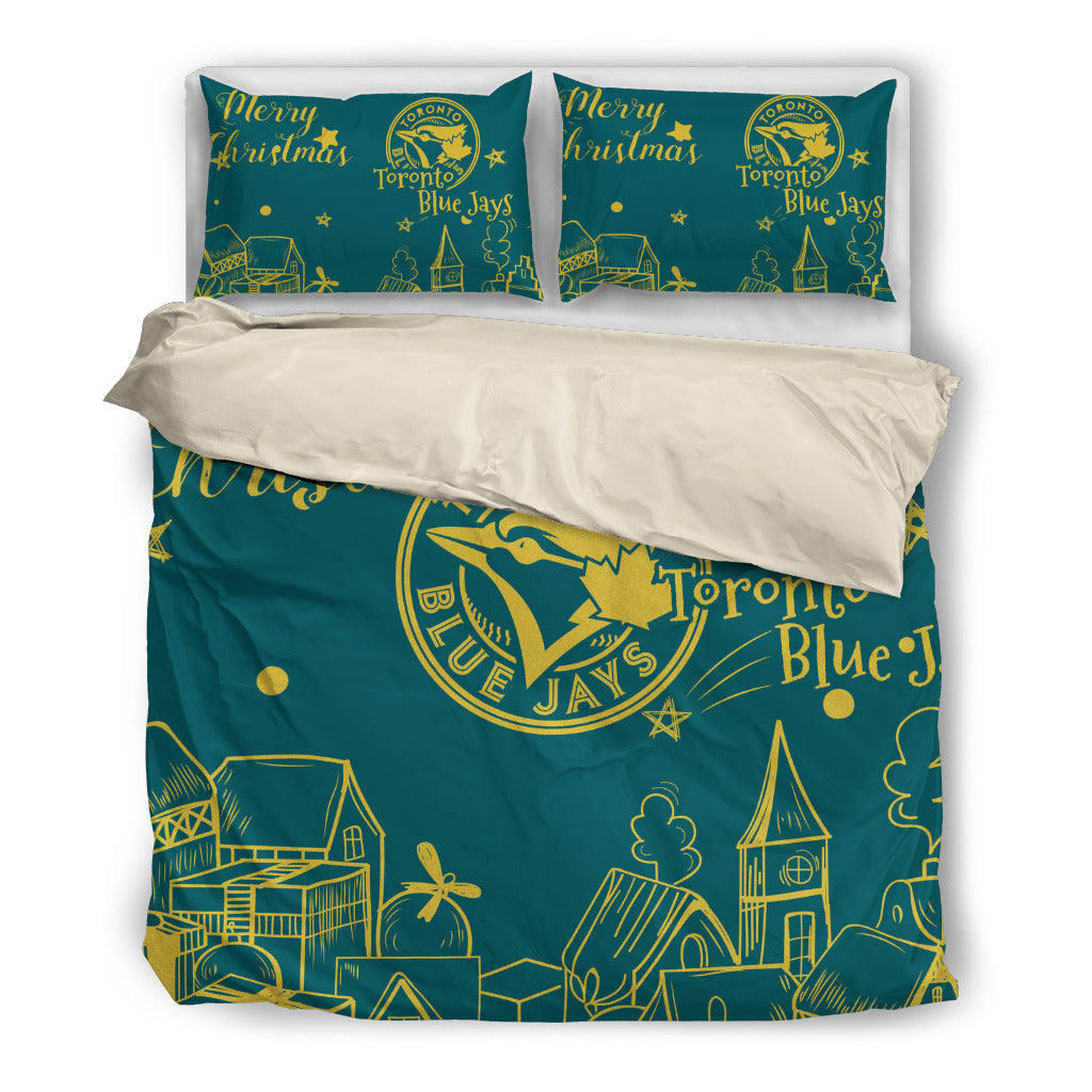 Nice Present Comfortable Christmas Toronto Blue Jays Bedding Sets