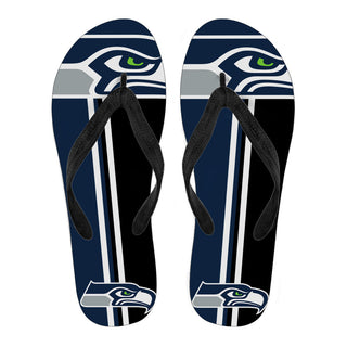Seattle Seahawks Fan Gift Two Main Colors Flip Flops