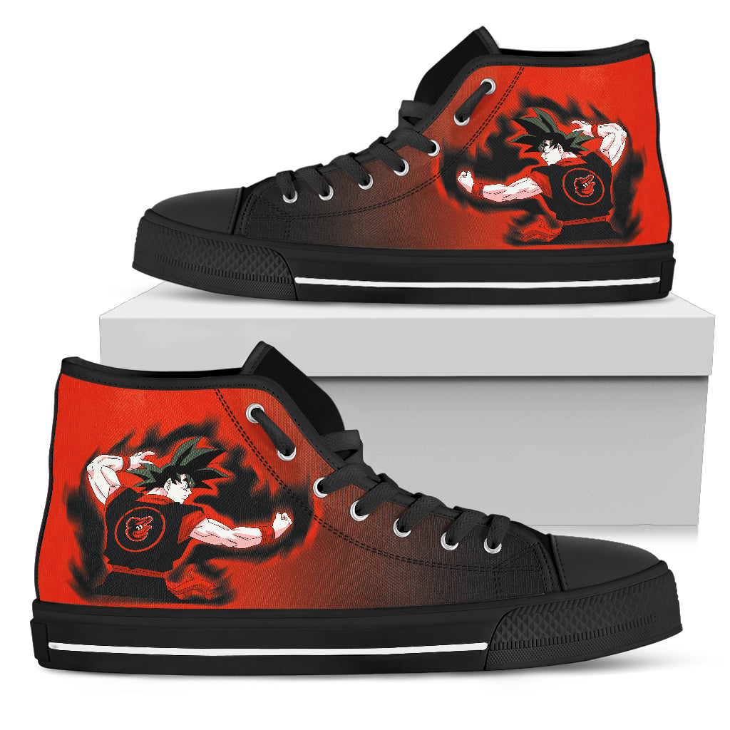 Baltimore Orioles Son Goku Saiyan Power High Top Shoes