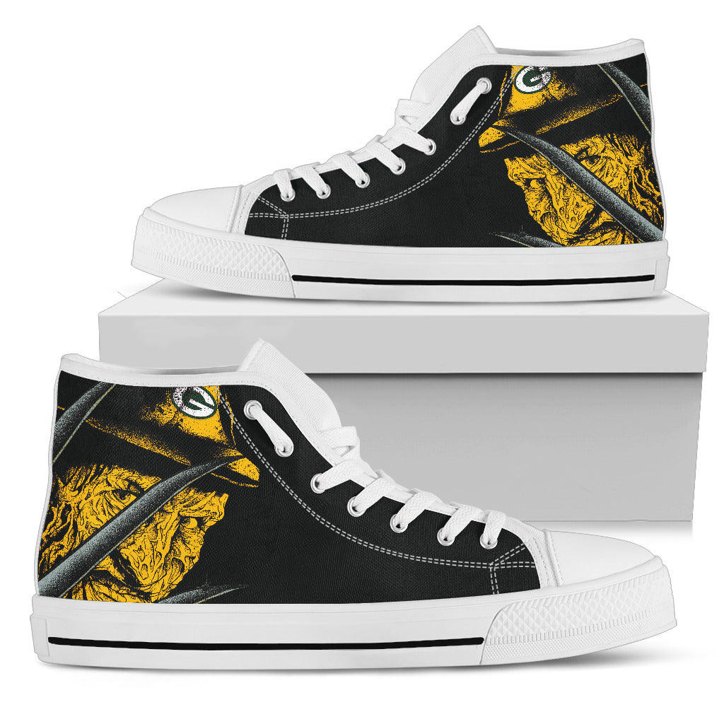 Green Bay Packers Nightmare Freddy Colorful High Top Shoes