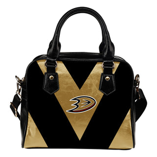 Triangle Double Separate Colour Anaheim Ducks Shoulder Handbags