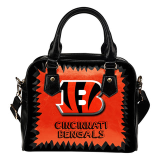 Jagged Saws Mouth Creepy Cincinnati Bengals Shoulder Handbags