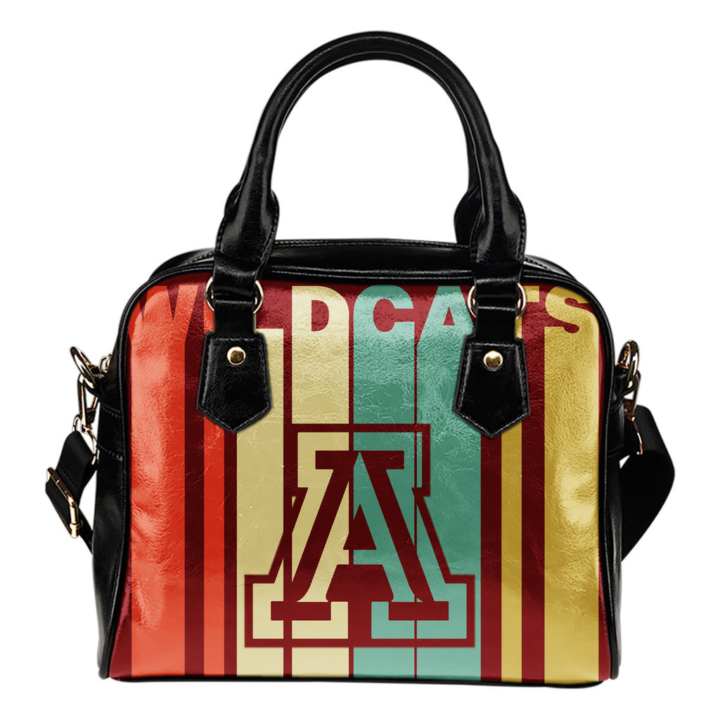 Arizona Wildcats Vintage Silhouette Shoulder Handbags - Best Funny Store